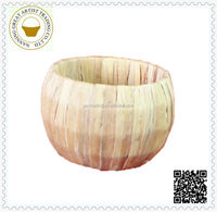 wholesale folk art hyacinth ball flower basket