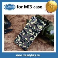 Interesting custom cell phone case for xiaomi mi3 with camouflage pattern