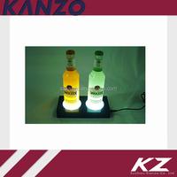 Liquid bottle LED glorifier base