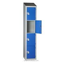 Cheap Student Used Lightweight Metal Utility School Lockers Clothing 4 Door Steel Cupboard Cabinet