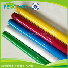 durable colorful floor cleaning mop wooden chinese stick lacquering