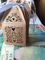 Kraft paper laser cut wedding party favor souvenirs box wholesale wedding candy packaging box