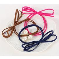 2015 pearl decoration elastic hair bands