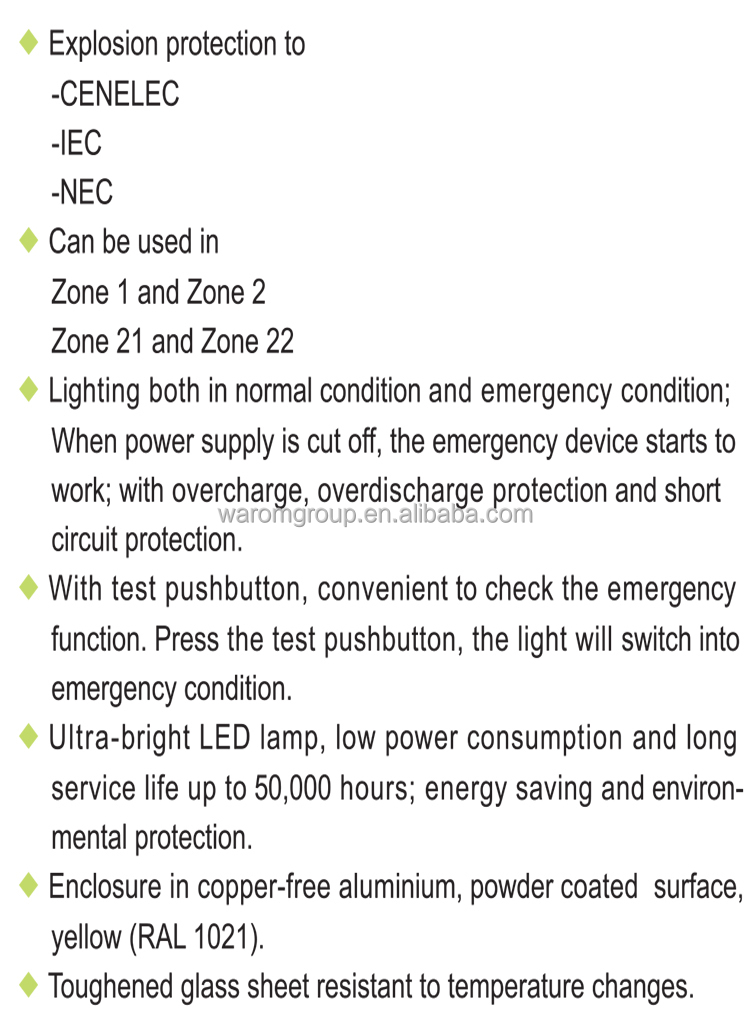 Explosion-proof Emergency Exit Light Fittings