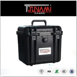 Hard shatterproof plastic carrying equipment case