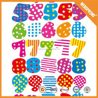 Removable lovely foam letters puffy numbers stickers