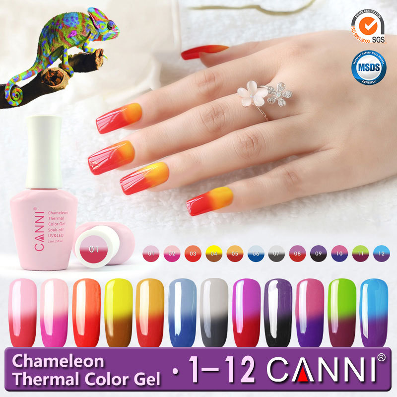 7.3ml CANNI Color Changing Thermal Chameleon 24 Mood Changes Colors ...