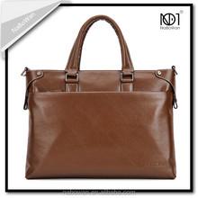 Men's leather Causal Soft Dull Polish briefcase Bag Handbag Computer Handbag