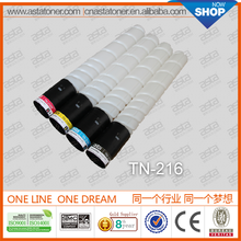 From ASTA high quality TN-216 compatible toner cartridge for konica minolta color toner