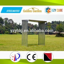 2015 latest inventions of china metal log storage shed for woods storage