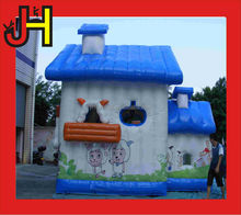 Mini inflatable pleasant goat cartoon /inflatable bouncy house bouncer for sale
