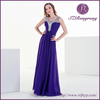 LF001 Special Occasion Empire Waist Sparkling Siquens Beaded Neckline Sheer Back Georgette Sexy Prom Dresses 2014