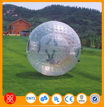 TPU Inflatable Transparent Zorb Ball,Human Hamster Ball for Sale,Cheap Price Grass Zorbing Ball