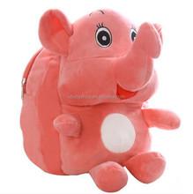 wholesale elephant kids cartoon daily backpacks children school bag plush student bags for boy & girl