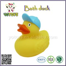 New Arrival Beautiful Baby Toys,rubber bath ducks with cap,cartoon gifts useful Baby Toys wholesale