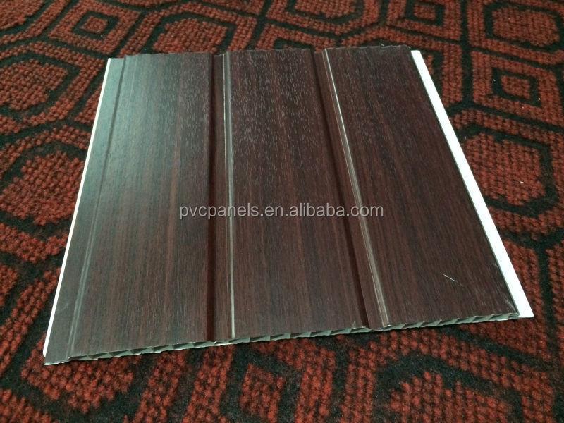 건축 자재 방수 목재 벽 패널 장식 나무 천장 디자인, PVC 패널 ...