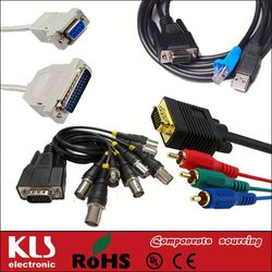 Good quality 30-pin to usb rca audio video cable UL CE ROHS 971 KLS