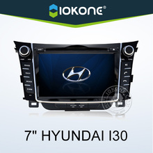 In dash 2 din 7 inch touch screen car dvd players with GPS bluetooth phonebook ipod for hyundai i30