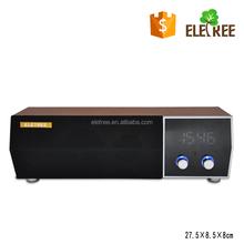 EL-Z7 Wooden Retro Wireless Bluetooth Speaker with microphone Wireless Laptop/Desktop Speaker/Alarm clock