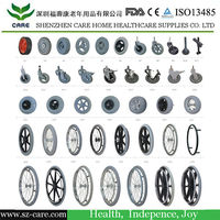 wheelchair spare parts/wheelchair caster wheel/wheelchair rims