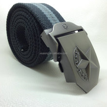 TT2420 Custom Fashion Polyester Canvas Webbing Belt Manufacturer with zinc alloy buckle