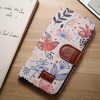 For iphone 6 leather case mobile phone case flower pattern wallet flip leather case for iphone 6