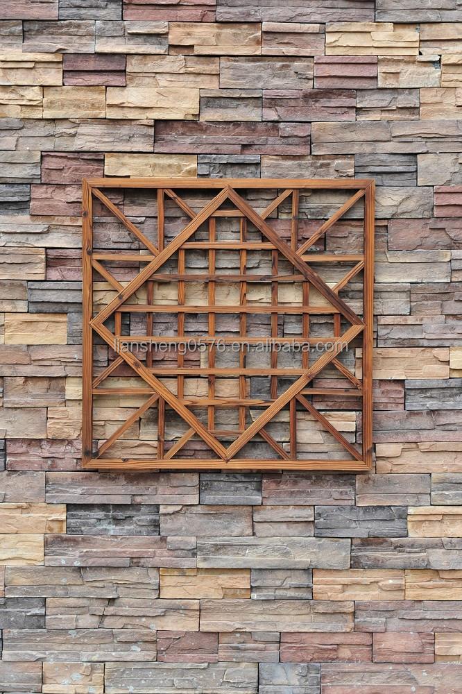 Decorative wooden trellis wooden fence wall decration als for Decorative wall fence