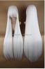 100cm Long Touhou Project-Fujiwara no Mokou White Cosplay Costume Wig