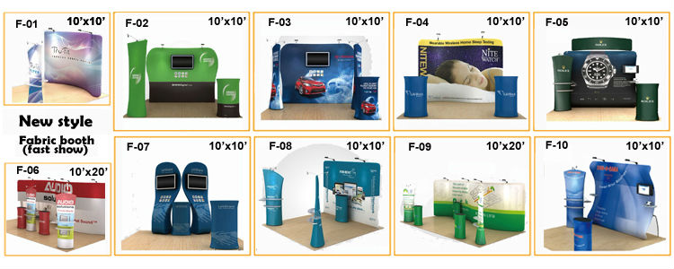 Exhibition Booth Budget : New design acrylic printing and cheap portable