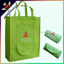 custom printed logo foldable non woven shopping bags