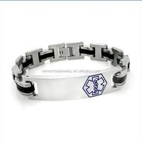 SRB0107 Wholesale Alibaba Medical Alert Link Band Bracelet