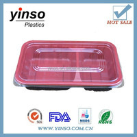 PP plastic 2/4-compartment luch box disposable food container