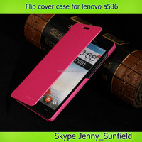 Super slim flip cover leather case for lenovo a536 , for lenovo a536 flip case