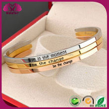 Wholesale Stainless Steel Bracelets,Engrave Cuff Bangle