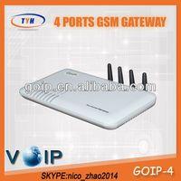 TYH Gevey Sim 4 Port Gsm VoIP Gateway 4 Channel GoIP Gsm Gateway Free Tech Support