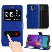 guangdong supplier sart mobile phone cover TPU+PU leather flip wallet case for samsung galaxy Note4