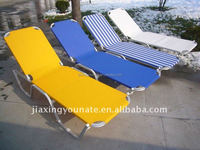 sling folding back sun lounger Greece beach lounger