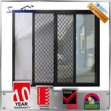Australia standard double glazed hurricane proof sliding aluminium wind-proof door with security screen