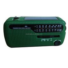 Portable Outdoor Solar Panel Dynamo Flashlight USB Charger AM/FM/SW World Band Radio Receiver