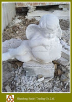 small stone marble angel statue