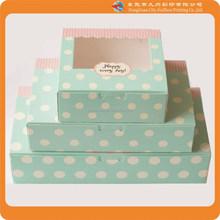 High Quality Fashion Custom Gift box paper plastic window