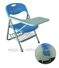 conference writing chairs,conference folding chair with tablet