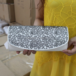 High quality lace flower evening clutch bag In stocks