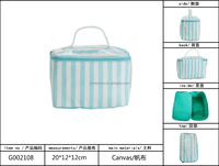 New Hot Selling Elegant Canvas Cosmetic Train Case 2014