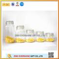 5 pc claro decorativos de vidrio hermético frasco gj9613