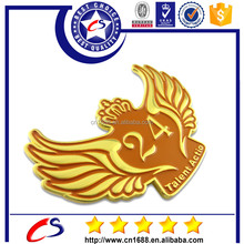 Popular new designs of wing metal badge for sale 2015