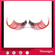 Two Tone False Eyelashes Strips (Black & Red) Red and Black Super Curl False Eyelashes Exaggerated False Eyelashes Dramatic Lash