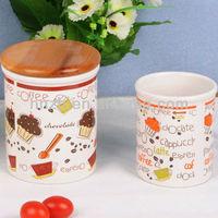unique ceramic kitchen canister with lid custom design