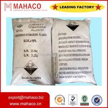 potassium hydroxide flake powder koh/caustic potash 90% with best price