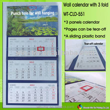 WT-CLD-551 Tear off wall calendar printing in China